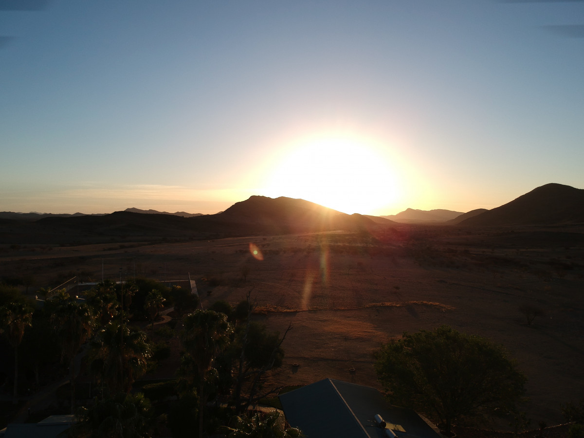 Sonnenuntergang in Namibia